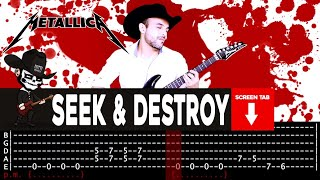 【METALLICA】[ Seek And Destroy ] cover by Masuka   LESSON   GUITAR TAB