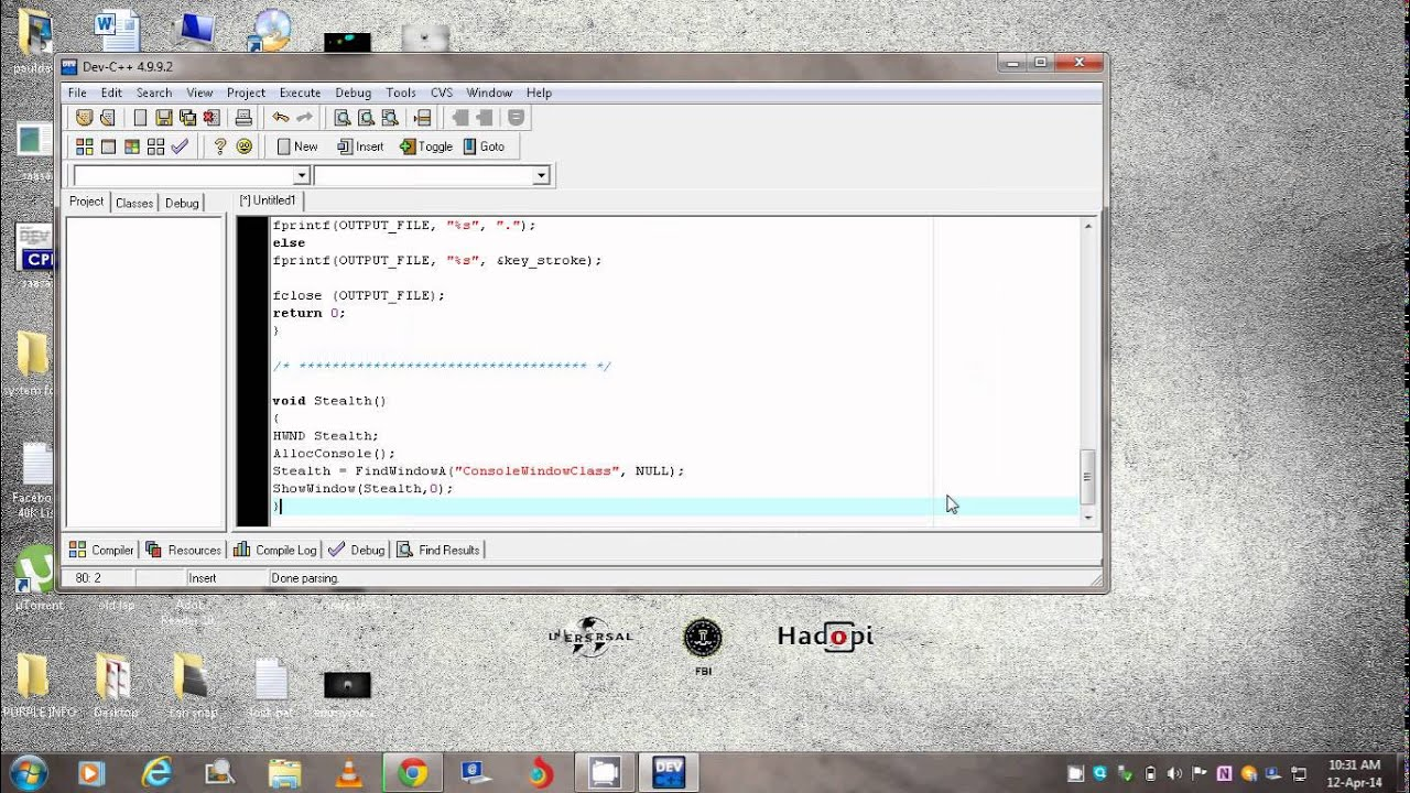 Create a Keylogger in C++