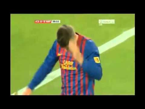 Cavani disallowed bicycle kick/ Chilena vs. Barcelona 2011