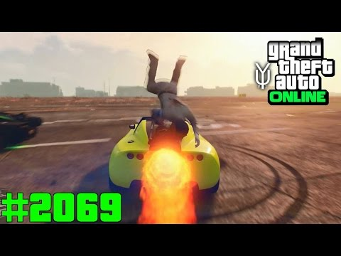 GTA 5 ONLINE Jagdspiel ich habe ein Raketenauto #2069 Let`s Play GTA V Online PS4 2K