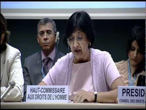 UN High Commissioner for Human Rights during the Human Rights Council Special Session on Syria