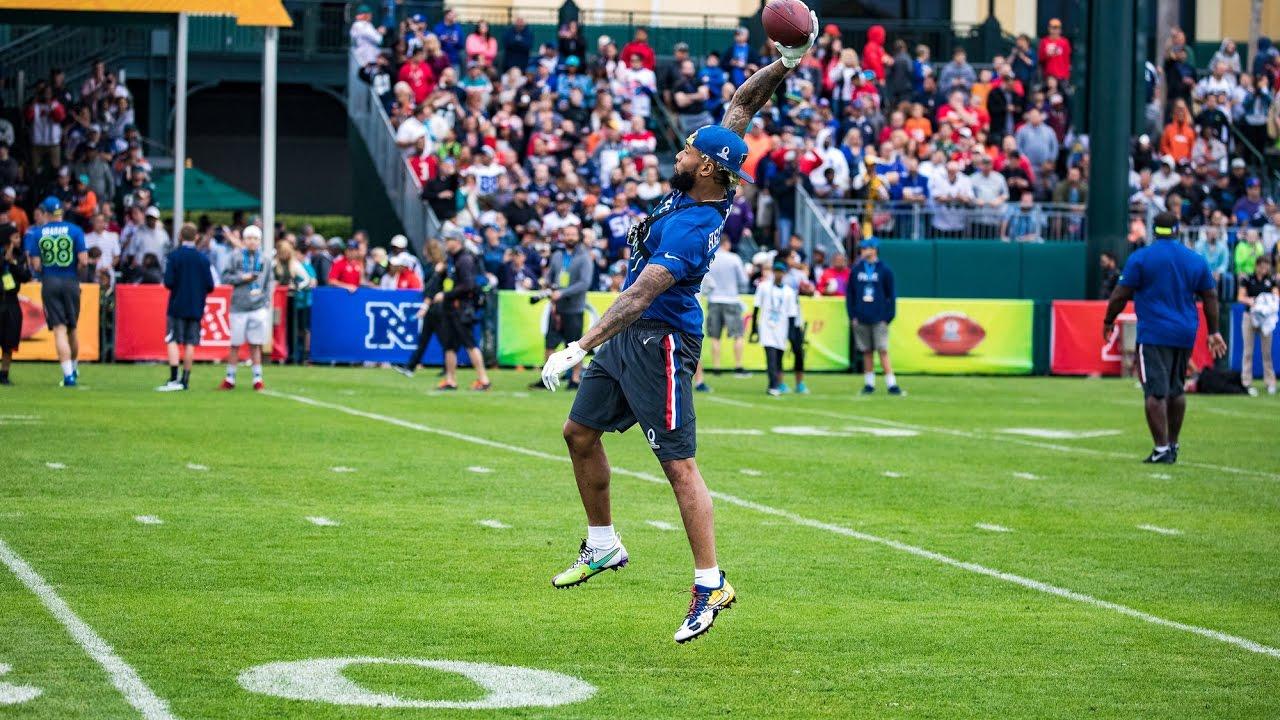 8ab01b9a0 Odell Beckham Jr. + GoPro at Pro Bowl practice - YouTube