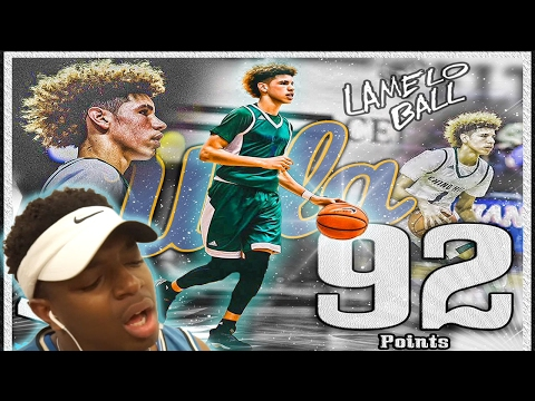 BEST LIGHTSKIN PLAYER EVER DROPS 92 POINTS IN A HIGH SCHOOL GAME| LAMELO BALL 92 POINT EXPLOSION!