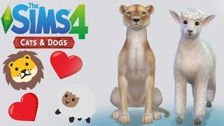 Lion and the Lamb Puppies?? | 🐾 Sims 4 Create a Pet and Genetics