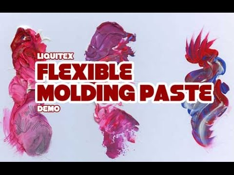 Liquitex Flexible Molding Paste Demo