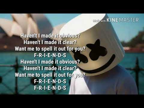 Marshmello & Anne Marrie - Friends (Lyrics)