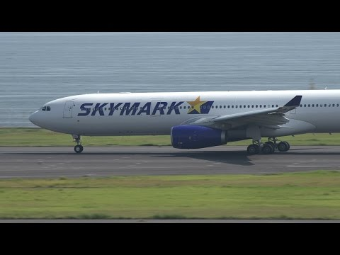Skymark Airlines Airbus A330-300 JA330D Takeoff from HND 34R