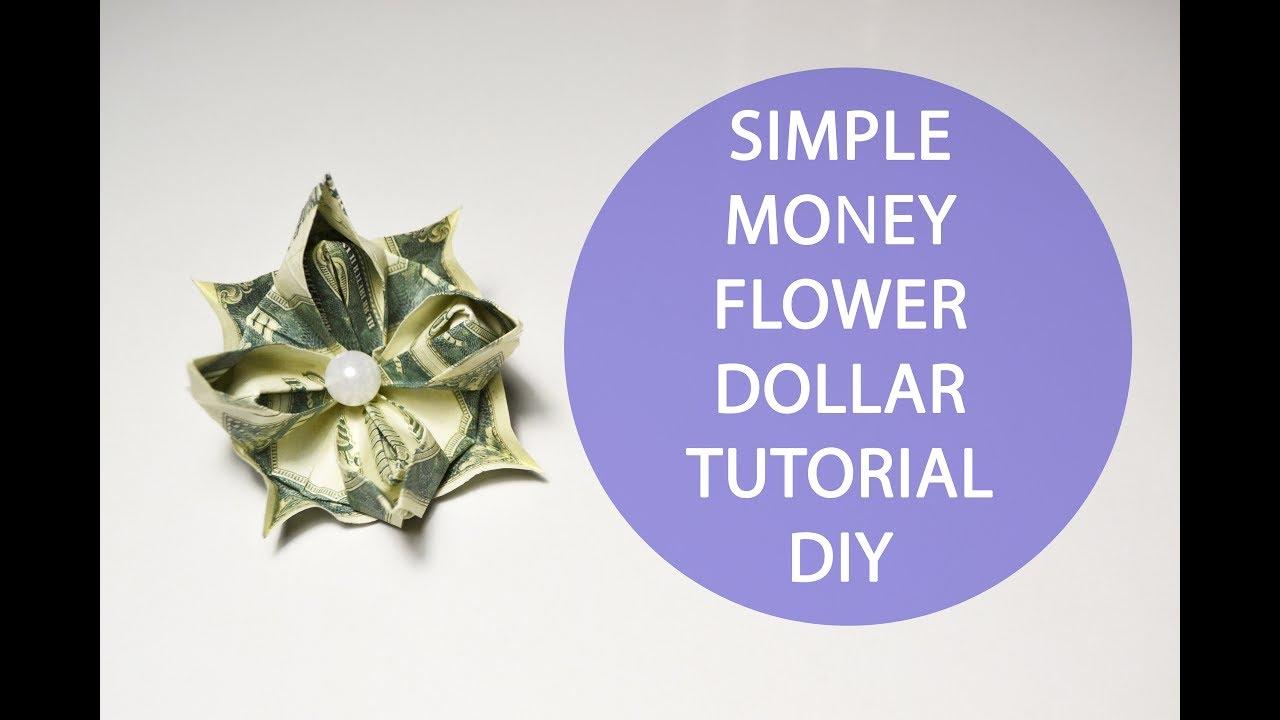 Simple money flower origami tutorial diy gift paper youtube simple money flower origami tutorial diy gift paper mightylinksfo