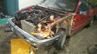 Volkswagen Passat B3 , обзор, восстанавление, покраска, ремонт.