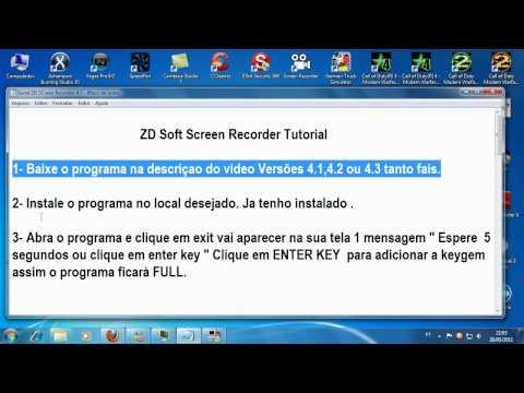 ZD Soft Screen Recorder 4.2 + Serial 2012 (Tutorial HD)