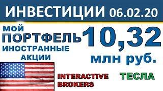 №19 Инвестиционный портфель акций. Interactive Brokers. Акции США. ETF. Инвестиции 2020. Дивиденды.