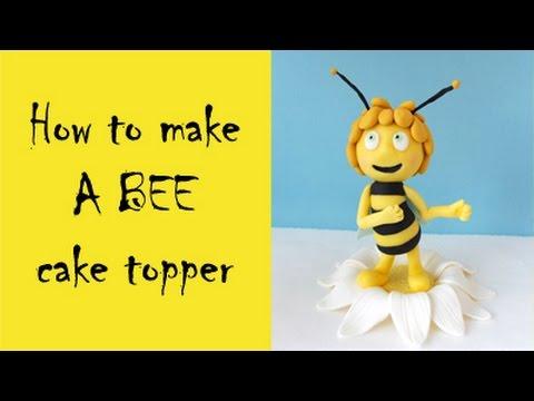 How To Make A Bee Cake Topper Tutorial Jak Zrobic Pszczolke Maje Z Masy Cukrowej