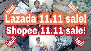 LAZADA 11.11 and SHOPEE 11.11 SALE | HAUL! HAUL!  Phils. VLOG#30 JustMe Amy