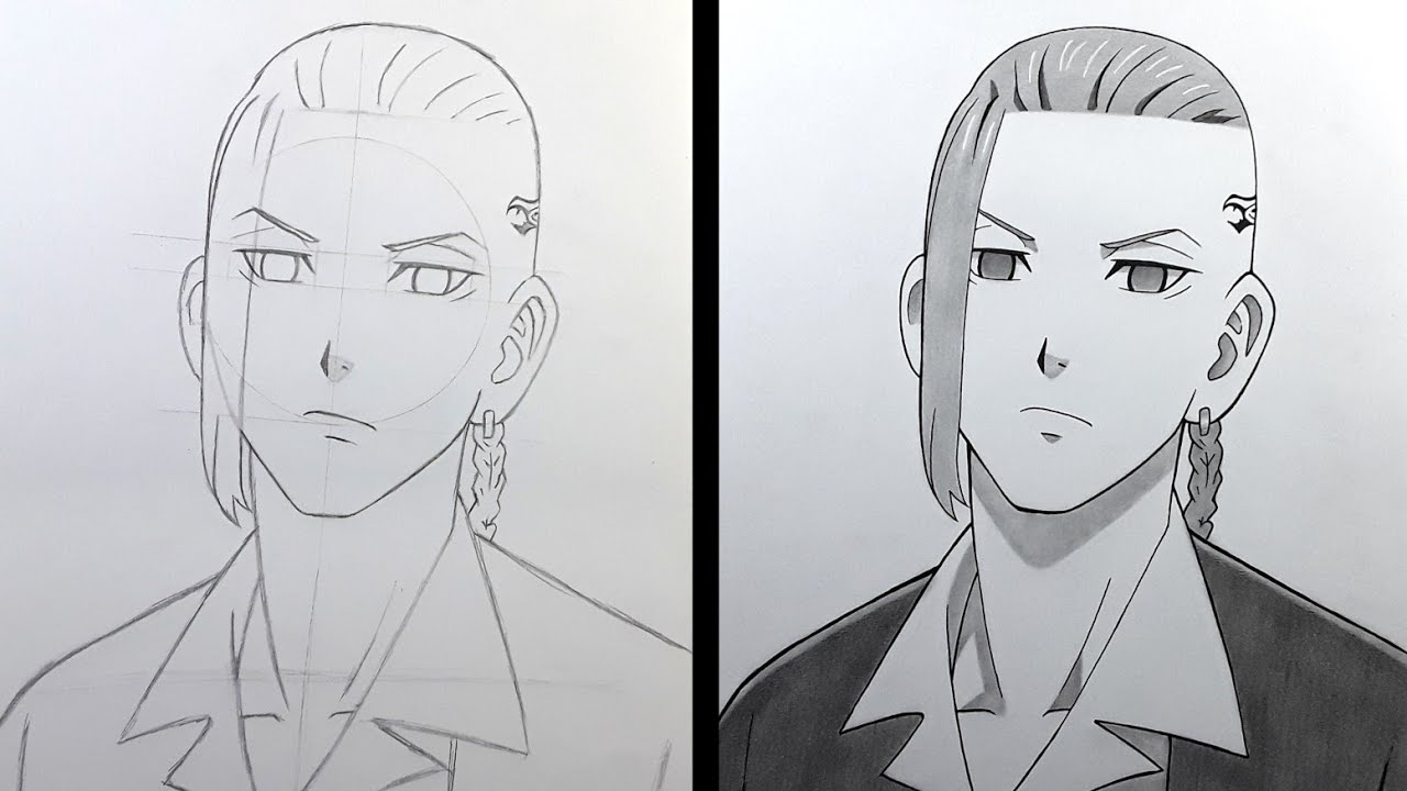 How to Draw DRAKEN from Tokyo Revengers - Step by step