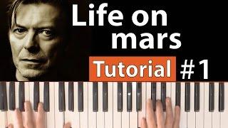 """Como tocar """"Life on mars""""(David Bowie) - Parte 1/3 - Piano tutorial y partitura"""