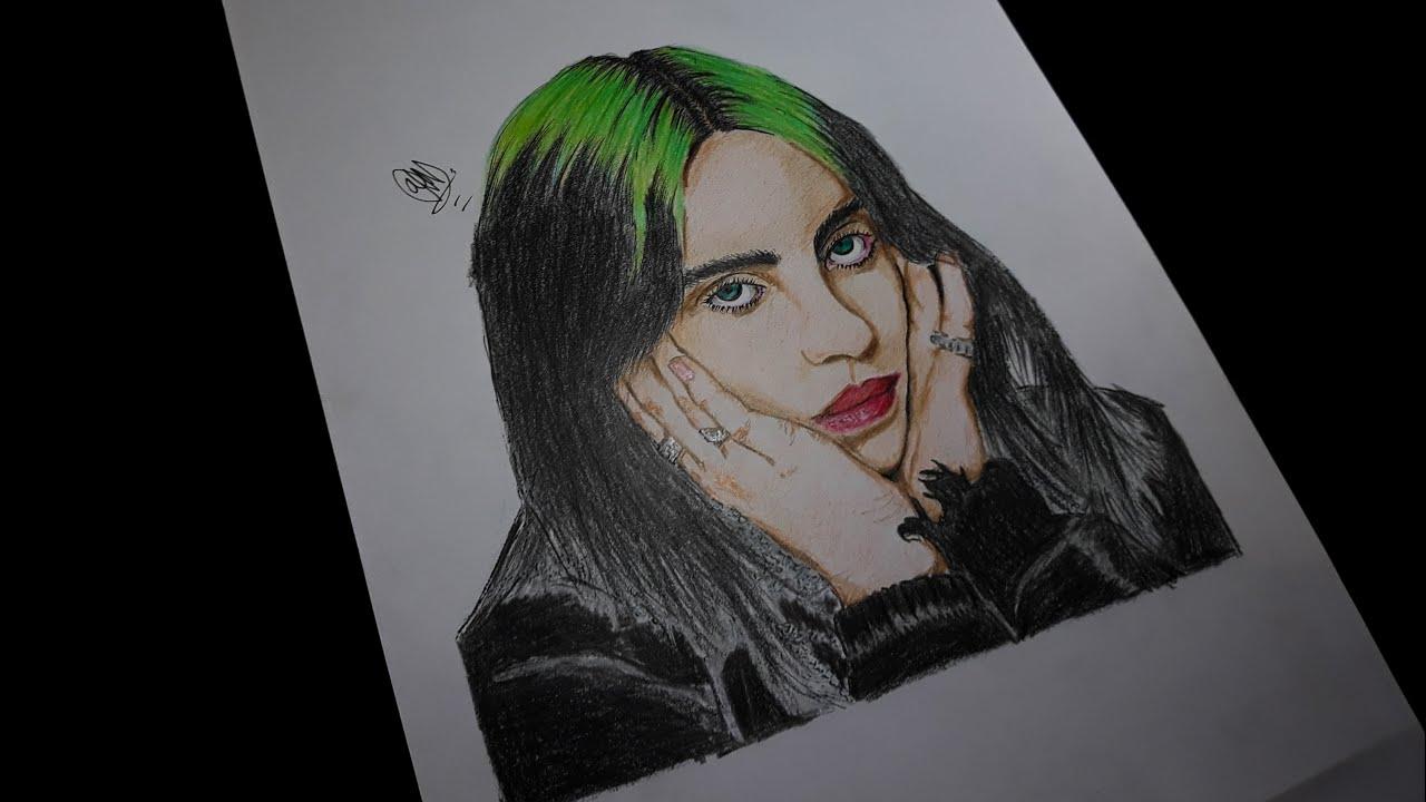colouring billie eilish  youtube