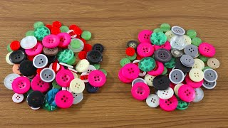 New Craft Ideas With Old Buttons ! Best out Of Waste Crafts ! Waste Buttons Craft !