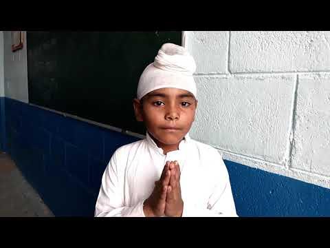 Charity brings prosperity! Parampreet Kaur of Akal academy Chugawan reciting a Punjabi poem