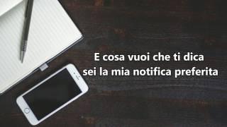 (Testo) Francesco Sole - Sei la mia notifica preferita Lyrics (cover di Mara Bosisio)