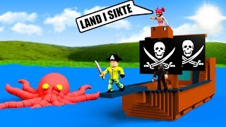 BUILDS PIRATE SHIP WITH FANS IN ROBLOX
