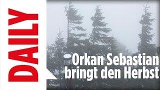 Orkan Sebastian bringt den Herbst - BILD Daily live 13.09.17
