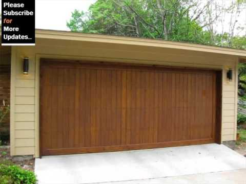 Timber Modern Garage Door & Timber Modern Garage Door - YouTube