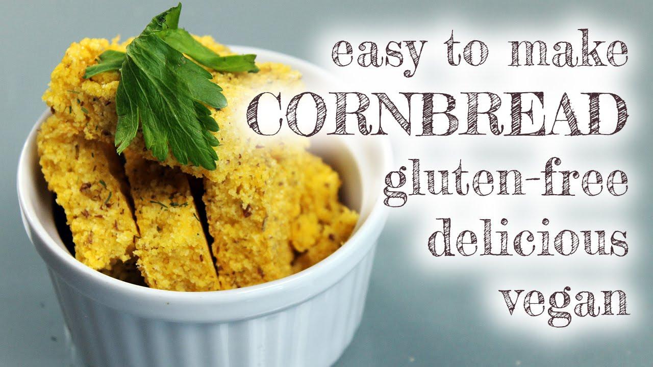 Easy Vegan Gluten-Free Cornbread [oil-free]