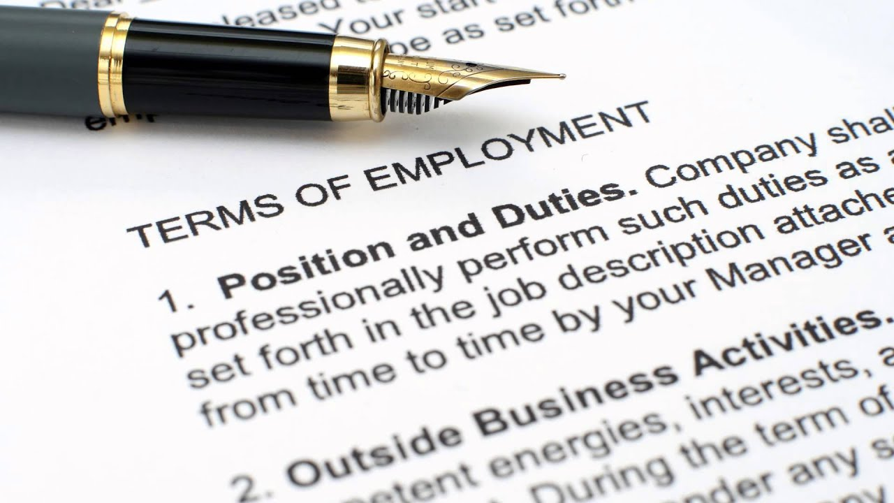 changes to employment terms and conditions changes to employment terms and conditions