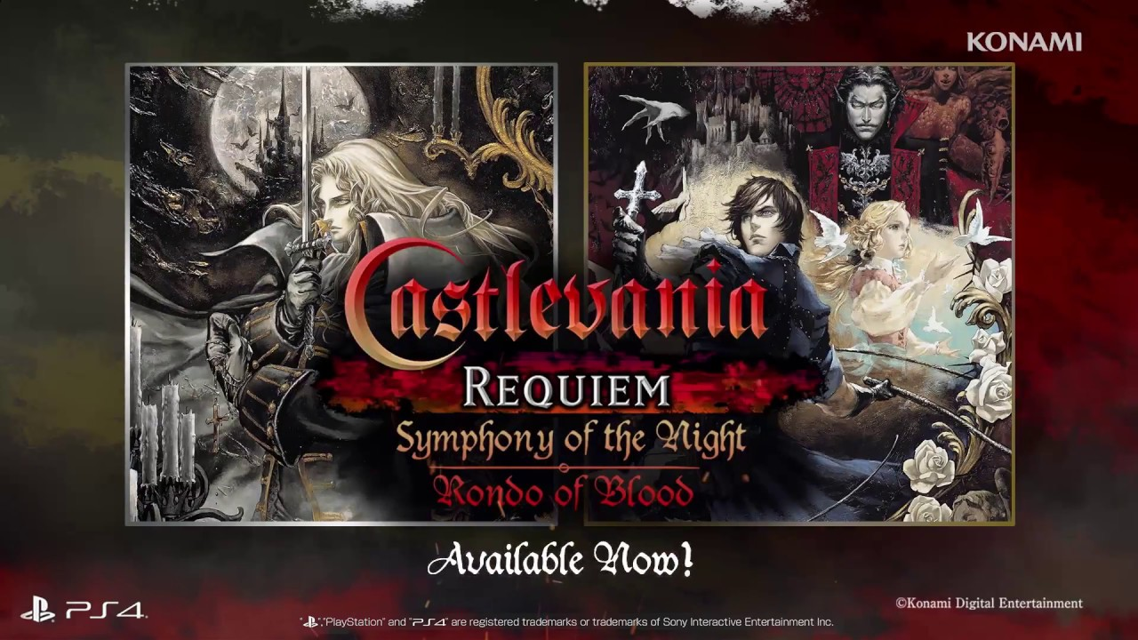 Castlevania Requiem Symphony Of The Night Rondo Of Blood Launch