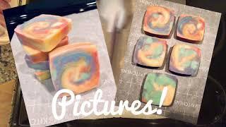 Rainbow Swirl Soap Cutting