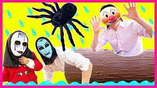Rain Rain Go Away Song nursery Rhymes for kids from Yume and Rena | Spider with magical ghost