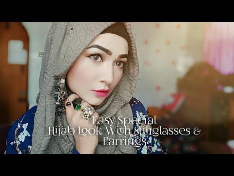 EID Special Hijab Look With Sunglasses & Earrings | Pari ZaaD ❤