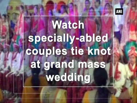 Watch specially-abled couples tie knot at grand mass wedding  - Gujarat News