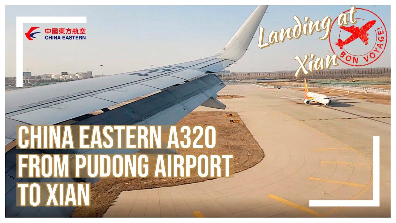 Xian Aeroporto : China eastern a landing at xianyang international airport xiy