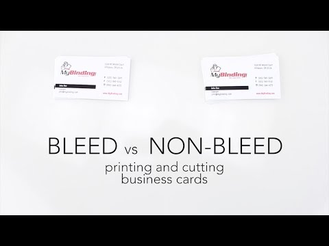 Bleed Vs Non-Bleed - Printing And Cutting Business Cards