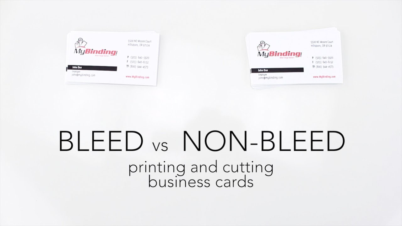 bleed vs non bleed printing and cutting business cards youtube