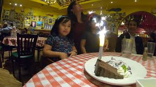 Leila's 5th bday cake blowing