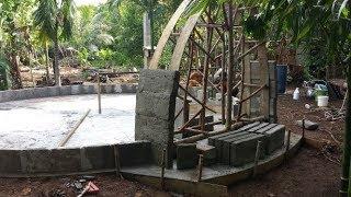 Aircrete Dome Home, Yap, Micronesia, Domegaia method