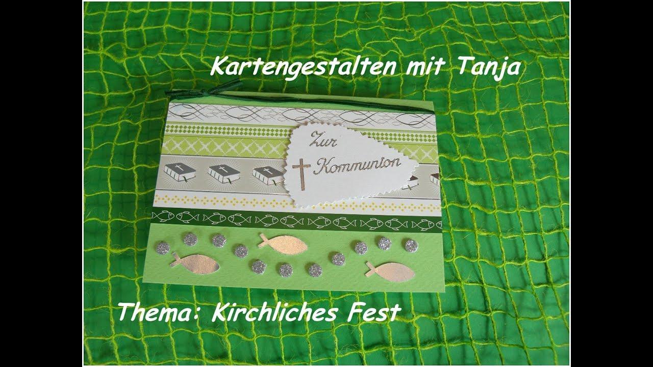 Karte zur Kommunion / Taufe / Konfirmation basteln DIY ...