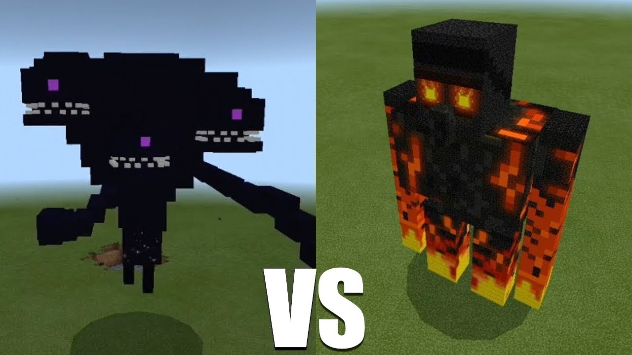 Giant magma golem vs wither storm in minecraft pe mcpe - Minecraft golem de diamant ...