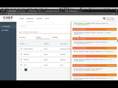 Chef Automate: Purposeful Patch Management Demo - YouTube