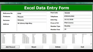 How To Create An Excel Data Entry Form With A UserForm -  Full Tutorial