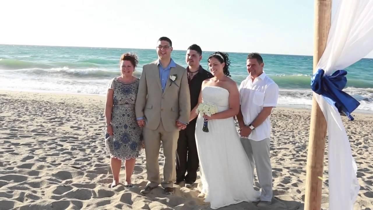 BEACH WEDDING AND CASUAL BEACH RECEPTION IN CRETE - YouTube