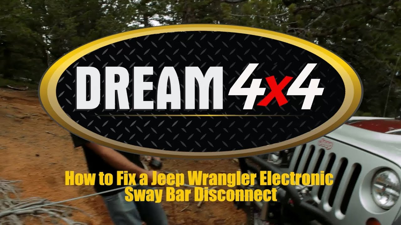 How To Fix A Jeep Wrangler Electronic Sway Bar Disconnect Youtube Diy Light Wiring