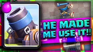 HE MADE ME USE THE MORTAR! // Clash Royale Challenge