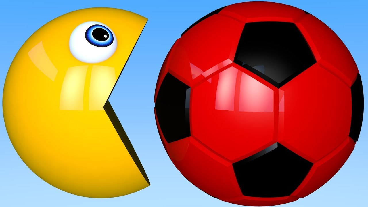 3c925ccc9 Learn Colors PACMAN and 3D Soccer Ball for Kid Children - YouTube