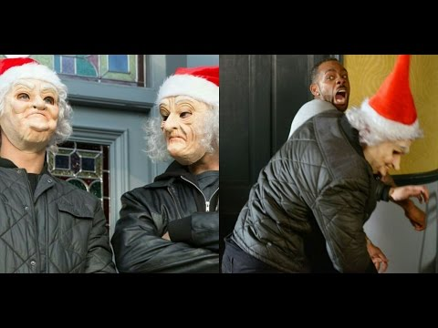 EastEnders - Vincent Hubbard Vs. Phil Mitchell's Henchmen (14th December 2015)