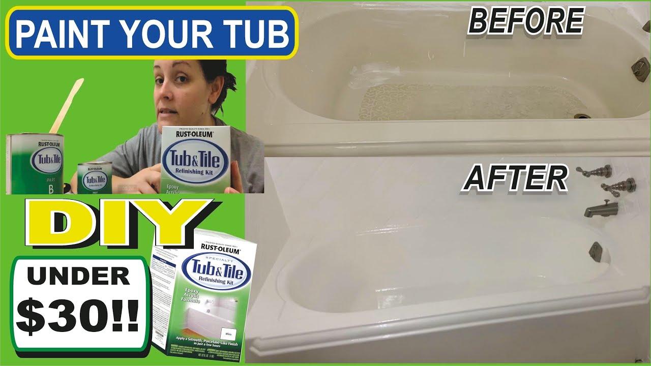 rustoleum tub and tile refinishing kit diy bathtub resurfacing restore how to paint your tub