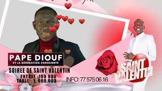 SOIREE SAINT VALENTIN PAPE DIOUF AU RADISSON BLU