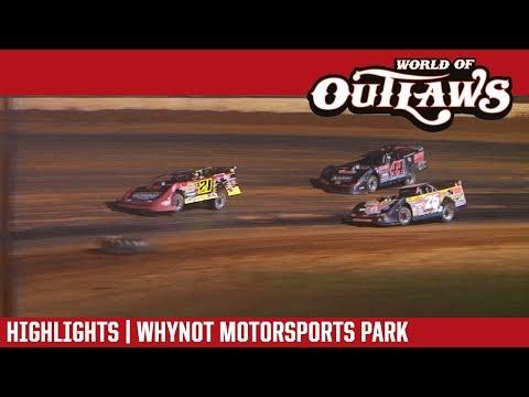 World of Outlaws Craftsman Late Models Whynot Motorsports Park April 21st, 2018 | HIGHLIGHTS